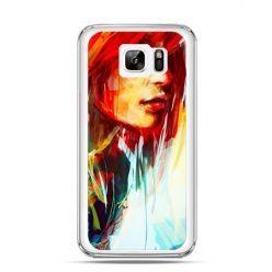 Etui na Samsung Galaxy Note 7 kobieta akwarela
