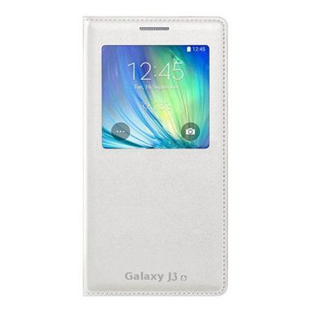 Etui na Galaxy J3 2016r - flip S-View z klapką - Biały
