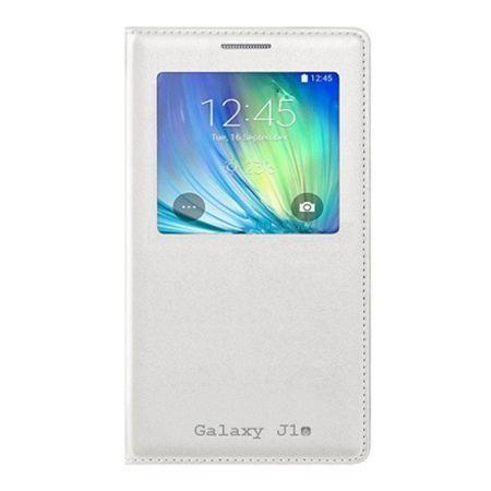 Etui na Galaxy J1 2016r - flip S-View z klapką - Biały