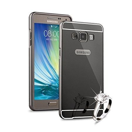 Mirror bumper case na Galaxy J5 2016r  - Grafitowy
