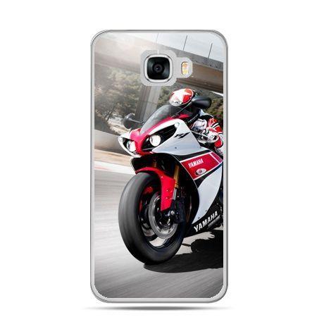 Etui na telefon Samsung Galaxy C7 - motocykl ścigacz