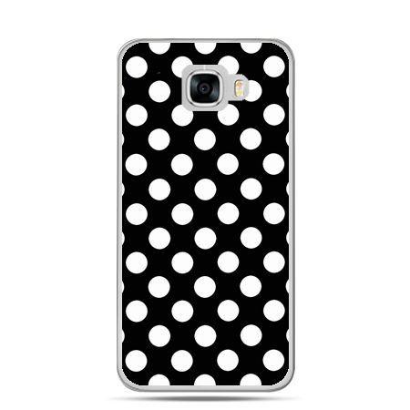 Etui na telefon Samsung Galaxy C7 - Polka dot czarna