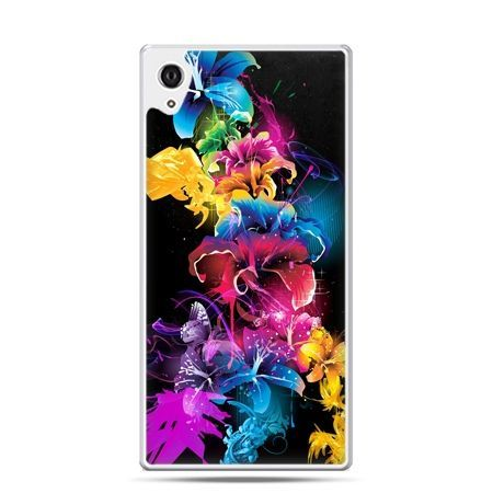 Etui na telefon Sony Xperia XA - kolorowe kwiaty