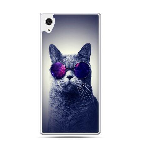 Etui na telefon Sony Xperia XA - kot hipster w okularach