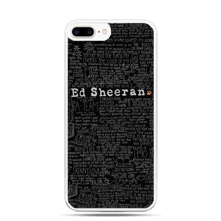 Etui na telefon iPhone 7 Plus - ED Sheeran czarne poziome