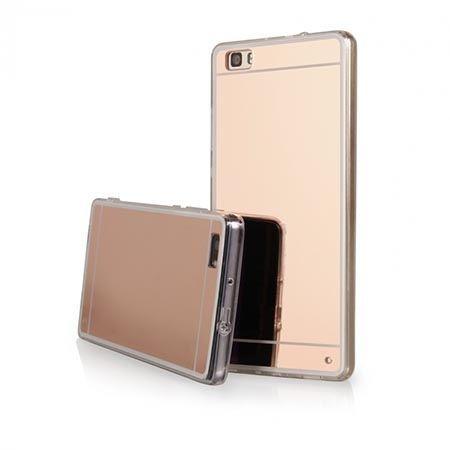 Etui na Huawei P8 Lite mirror - lustro silikonowe etui lustrzane TPU - Rose Gold.