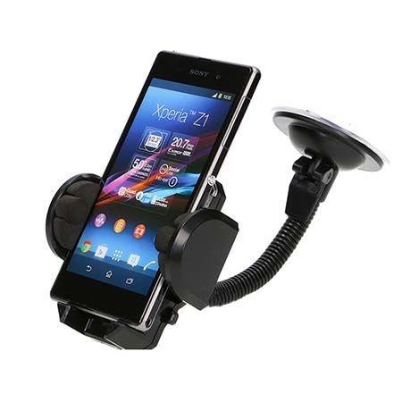 Spiralo - Uniwersalny uchwyt samochodowy na iPhone 6 Plus czarny.