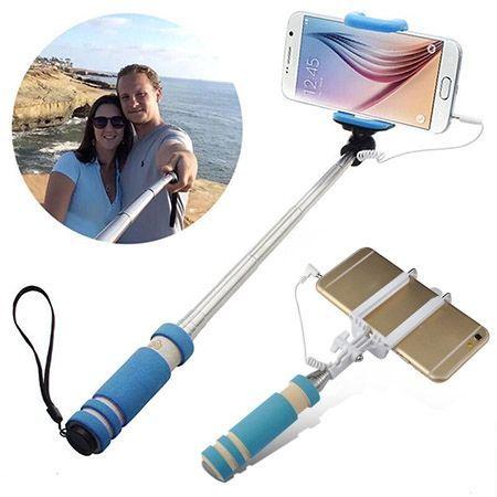 Mini Selfie monopod kieszonkowy kijek z kablem do iPhone 6s.