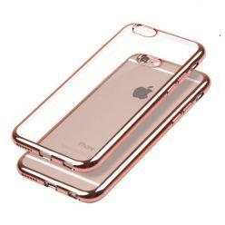 iPhone 6 Plus silikonowe etui platynowane SLIM - rose gold