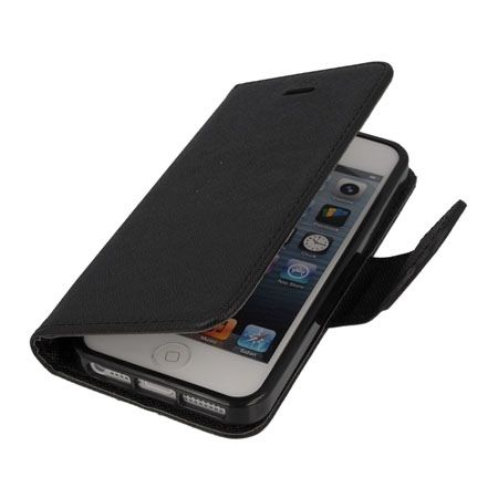 Etui na iPhone 5 / 5s Fancy Wallet - czarny. PROMOCJA!!!
