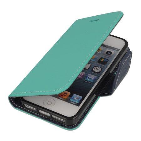 Etui na iPhone 5 / 5s Fancy Wallet - miętowy. PROMOCJA!!!