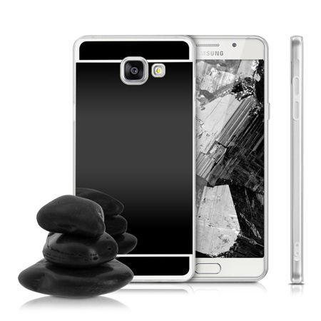 Etui na Galaxy A3 (2016) mirror - lustro silikonowe TPU - czarne.