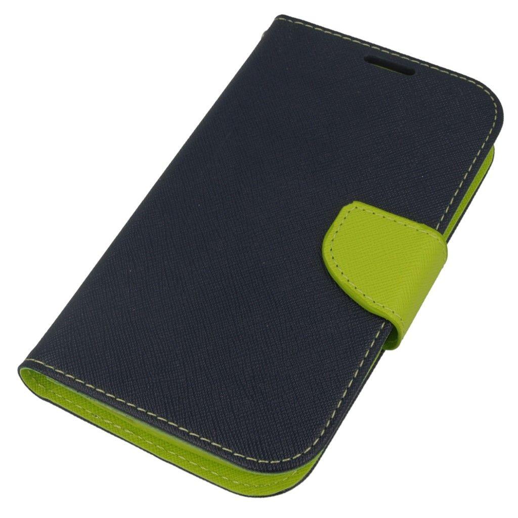Etui na Huawei Y600 Fancy Wallet - granatowy. PROMOCJA!!!