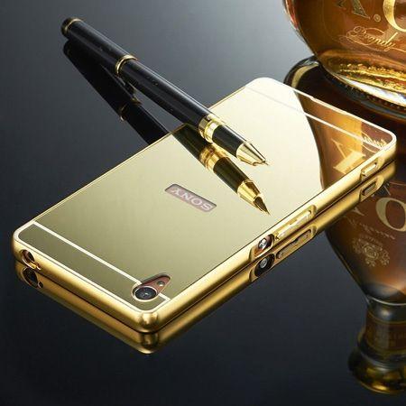 Mirror bumper case na Xperia Z - Złoty