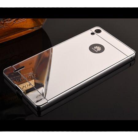 Mirror bumper case na Huawei P7 - Srebrny