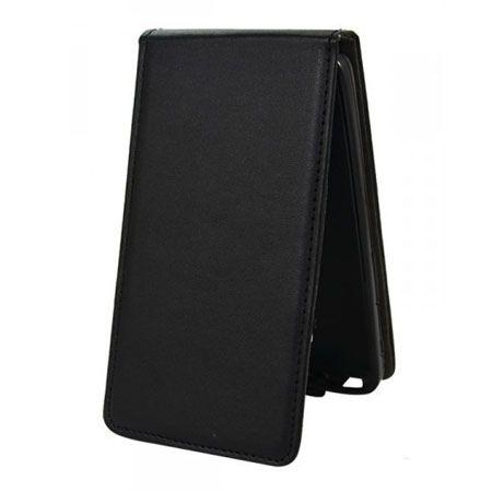 Etui na telefon iPhone 5 / 5s - kabura z klapką - czarny