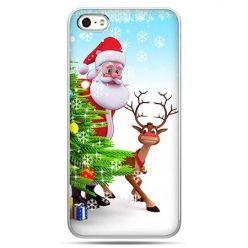 Świąteczne eui na telefon Mikołaj z reniferem.