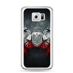 Etui na telefon Galaxy S6 Edge Plus patriotyczne - stalowe godło