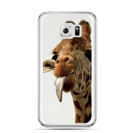 Etui na Galaxy S6 Edge Plus - żyrafa z językiem