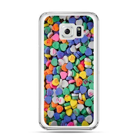 Etui na Galaxy S6 Edge Plus - slodkie serduszka