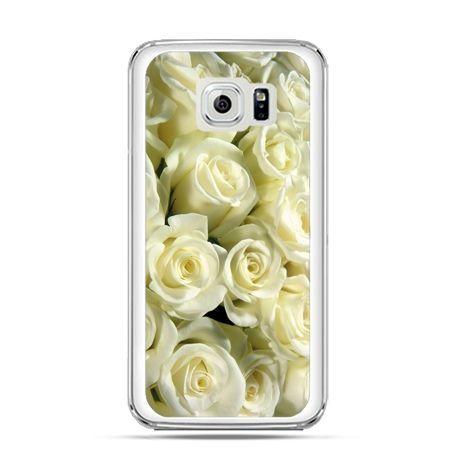 Etui na Galaxy S6 Edge Plus - białe róże