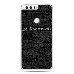 Etui na Huawei Honor 8 - ED Sheeran czarne poziome