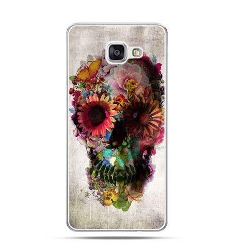 Etui na Samsung Galaxy A3 (2016) A310 - czaszka z kwiatami