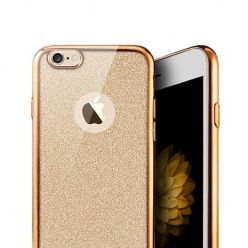 iPhone 7 etui Brokat silikonowe platynowane SLIM tpu złote.