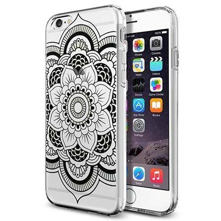 Silikonowe etui na iPhone 6 / 6s crystal case Rozeta - czarna. PROMOCJA!!!