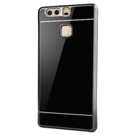 Huawei P9 platynowane etui mirror - czarne.