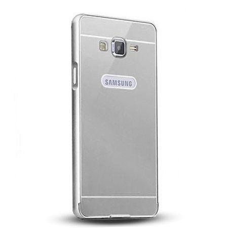 Galaxy Grand Prime etui aluminium bumper case - srebrny.