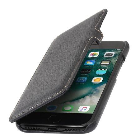 Etui na iPhone 7 Stilgut BOOK skórzane z klapką - czarny