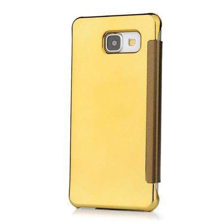 Samsung Galaxy A5 2016 etui Flip Clear View mirror z klapką - złoty.