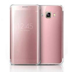 Etui na Galaxy J5 2016 Flip Clear View z klapką - różowy.