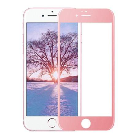 Hartowane szkło na cały ekran 3d iPhone 6 Plus / 6s Plus - różowy.