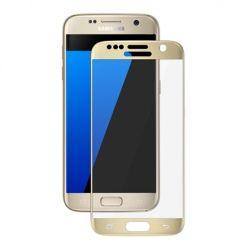 Hartowane szkło na cały ekran 3d Galaxy S7 - złoty.