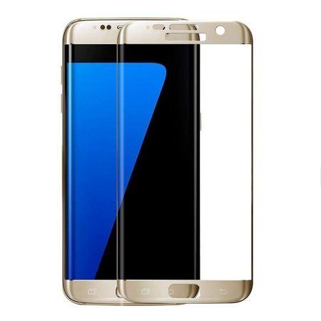 Hartowane szkło na cały ekran 3d Galaxy S7 Edge - złoty.