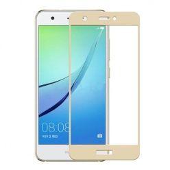 Hartowane szkło na cały ekran 3d Huawei Nova - złoty.