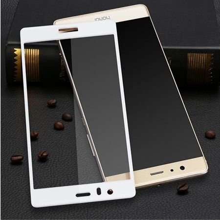 Hartowane szkło na cały ekran 3d Huawei Honor 8 - biały.