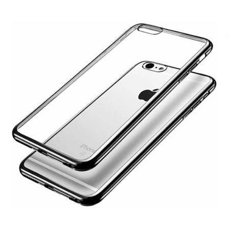 iPhone 7  silikonowe etui platynowane SLIM - grafitowy.