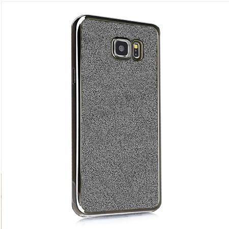 Galaxy S6 etui brokat silikonowe platynowane SLIM tpu grafitowe.