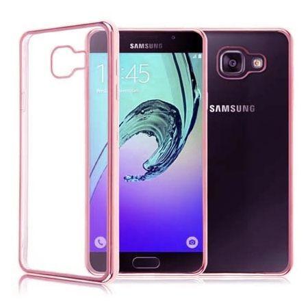 Samsung Galaxy A5 (2016) A510 przezroczyste etui platynowane SLIM różowe.