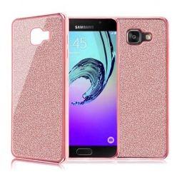 Galaxy A5 2016 etui brokat silikonowe platynowane SLIM tpu różowe.