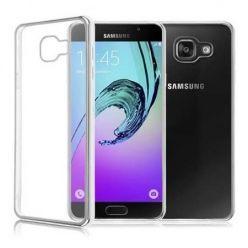 Samsung Galaxy A5 2017 przezroczyste etui platynowane SLIM - srebrny.
