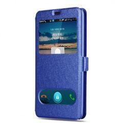 Samsung Galaxy A5 2017 etui Flip Quick View z klapką dwa okienka - Niebieski.