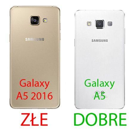 Galaxy A5 etui Flip Clear View granatowe z klapką.