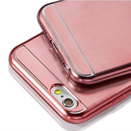 Etui na iPhone SE platynowane Full - różowy.