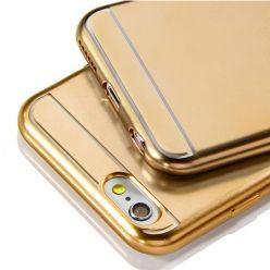 Etui na iPhone SE platynowane Full - złoty.