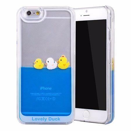 iPhone SE etui z ruchomym płynem w środku kaczuszki.