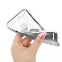 Etui na iPhone SE platynowane Full - srebrny.